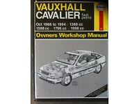 Haynes Manual For Vauxhall Cavalier, 88-94