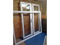 WHITE PVC-u D/G FRENCH DOORS