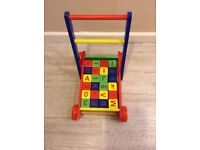 Toddler walker / building bricks trolley