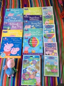 Selection of Peppa Pig books and DVDs