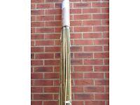 60x 2.4meter long NEW bamboo garden canes 16mm width