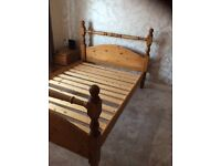 Pine frame double bed