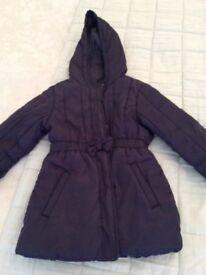 Navy M & S coat age 5-6
