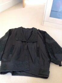 Ladies black 100% leather jacket size 12. As New. Move abroad forces sale.