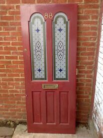 Edwardian Style stained glass front Door
