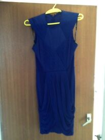 Blue warehouse dress size 10