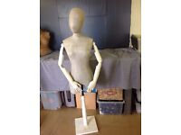 Silver Female Tailors Dressmakers dummy mannequin- Halloween Props With Stand