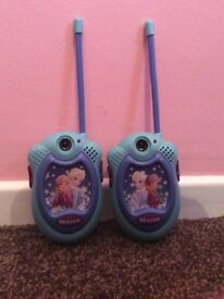 Frozen Walkie Talkies in excellent condition and full working order