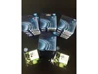 Hp and think inkjet cartridges 62xl black and tri-colour