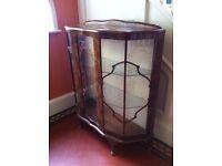 Large Vintage Antique Display Cabinet Genuine RIVINGTON London / Can Deliver