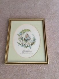 Antique Print of Queen Victoria