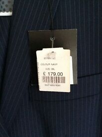 Men's Navy pin stripe suit size 38Chest still have price tag on