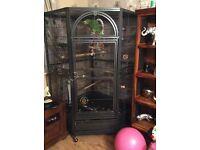 Huge corner parrot cage