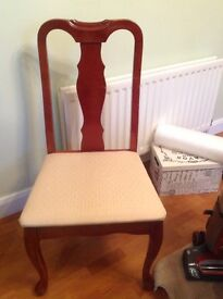 Queen Anne style table and chairs