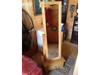 Hand made solid wood full size mirror