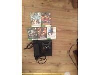 Xbox 360 250gb and 5 games