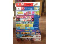 12 children's jigsaw puzzles, some Disney.