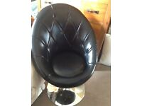 deep purple leather look chair