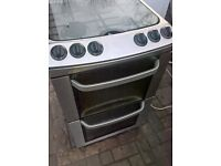 Silver Gas cooker..55cm free delivery Mint