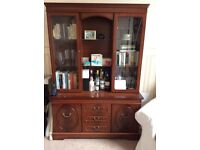 Free to good home: wood and glass display cabinet