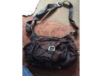 Leather ladies next bag not new but plenty if life left in it....brown leather next ladies bag brown
