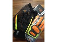 Crude work gloves mechanics and builders new xxl