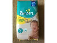 Pampers premium protection new baby nappies SIZE 2