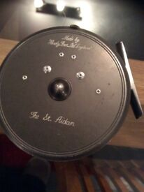 Vintage Hardy St Aidan Fishing Reel with Case and Spare Spool