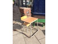 Childrens retro desk and chair