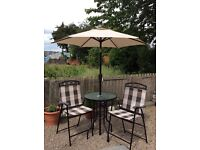 Quest elite Marrakesh table chairs and umbrella set
