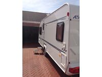 Elddis riviera 2004 berth 4 fixed bed with leisure battery