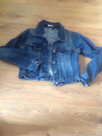 Girls denim jackets never worn age 12