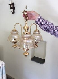 ceiling light gold plated