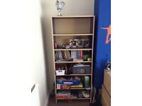 Ikea Billy tall bookcase and Ikea desk -blue