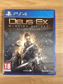 Deus Ex Mankind Divided (day one edition) - PS4 - Immaculate Condition
