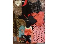 Ladies clothing and accessories bundle - dresses, tops, skirts, t-shirts, handbags, scarves