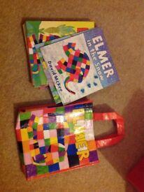 Elmer books and bag