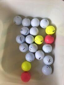 20 mixed golf balls