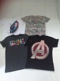 Kids Marvel T-Shirts age 12-14