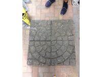 Charcoal cobble effect concrete flags