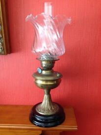A Lovely Victorian Oil Lamp