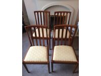 A set of 4 Meredew Dining chairs in teak