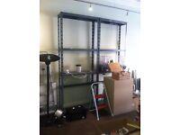 Grey Metal Shelves H254cm D28cm L100cm x2 £10