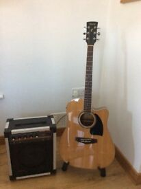 Ibanez electro acoustic guitar And amp