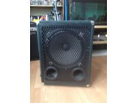 An excellent condition 300watt ultrabass deep bass cab