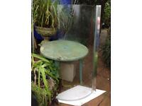 Wickes Curved bath / shower screen.