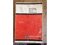 Old David Brown manuals