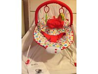 As new baby bouncer chair, used very little so in great condition.