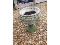 Old vintage English stone urn planter