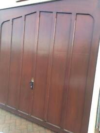 PAIR GARAGE DOORS